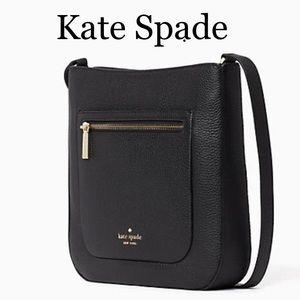 Kate Spade Leila Top Zip Crossbody Black